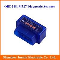 Mini OBD2 ELM327 V1.5 Bluetooth Car Diagnostic Scanner Android Torque Scan Blue Color Free Shipping