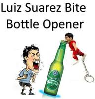 Hot Selling! Luis Alberto Suarez Bottle Opener Funny Bite Image With Key Ring Keychain bottle Opener