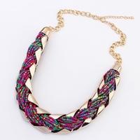 brand new fashion vintage bead choker necklace women jewelry bohemian pendant necklace wholesale