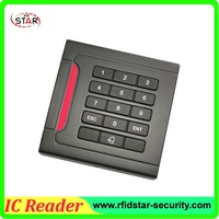 free shipping of rfid proximity 13.56MHz smart MF IC keypad card reader with wiegand26 interface use for access control