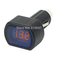Portable DC 12V-24V LCD Display Cigarette Lighter Voltage Digital Panel Meter for Car Voltmeter monitor car Hot sale 100% New