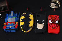 Super Hero Batman Spider-man Autobot 3D Silicone Case For iPhone 5 5S