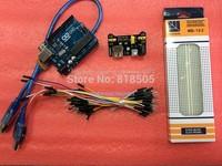 Special promotions ( UNO R3 MEGA328P ATMEGA16U2 + beardboard power + MB-102 +65 breadboard cables for arduino kit