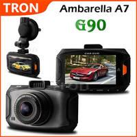G90 Ambarella A7 5 Mega Pixels HDR Full HD 1080P 30fps 2.7 Inch LCD 170 Degree Wide angle Lens Car DVR Dash cam HDR G-Sensor