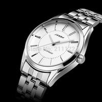 Sinobi brand men quartz watch full stainless steel watches wristwatches,mans casual fashion wrist watch Men's Dress ,relogio