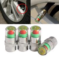 4Pcs Car Auto Tire Air Pressure Valve Stem Caps Sensor Indicator Alert Bike QS0004