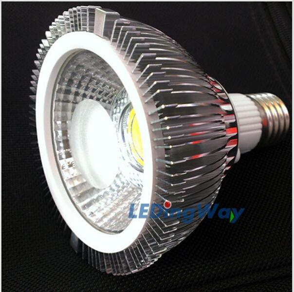 Dropship PAR30 7W E27 COB LED Spot Light Spotlight High power PAR 30 lamp Warm / Cold Whtie 85~265V CE ROHS -- free shipping(China (Mainland))