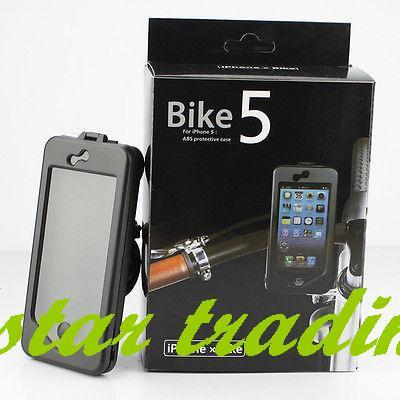 Waterproof Bike Bicyle Handlebar Mount Holder Sealed Case Cover For iPhone 5 5G(China (Mainland))