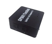 SPDIF TOSLINK Digital Optical Audio Switch with Remote Control (Three Inputs one Output)