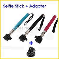 Portable Aluminum Selfie Stick Telescopic Pole Extension Handheld Monopod Tripod Mount Adapter For GoPro Hero HD 2 3