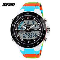 SKMEI 1016 Men Sports Military Watches Fashion Watch Casual Quartz Men's Digital Analog Multifunctional Wristwatches (blue)