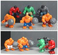 Decool 2014 Classic Toys 3 Large Hulk Super Heroes action figures VS Fantastic four 3 pcs big Thing minifigures building blocks