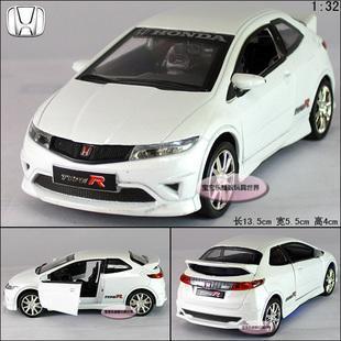 1:32 HONDA CIVIC Alloy Diecast Car Model Toy Collecion White Sound&Light B1953(China (Mainland))