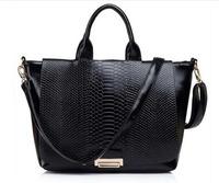 2014 New arrival Fashionable Retro Serpentine genuine leather womens handbag messenger shoulder bag Tote bags 4 colors JF0701