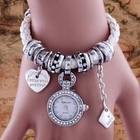 Brand New Fashion Retro Pandents Bracelet wristwatches Vintage Snake Chain Women Dress watches Relojes Pulsera relogio feminino