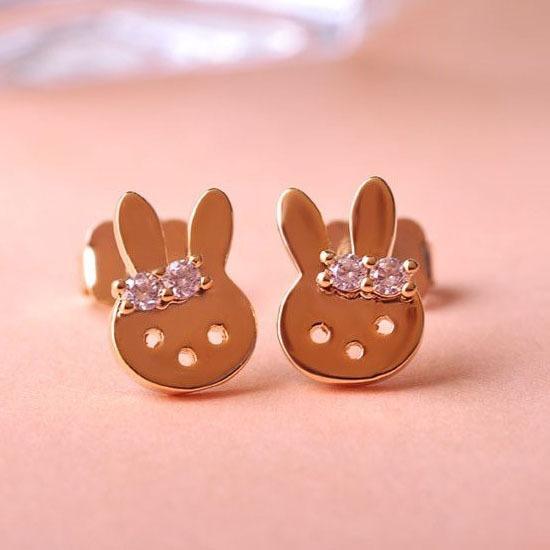 product Kawail Rabbit Brincos Pequenos Stud Earrings Aretes Accessories Bijoux Women Fine Turkish Jewelry Meus Pedidos Thranduil Hobbit