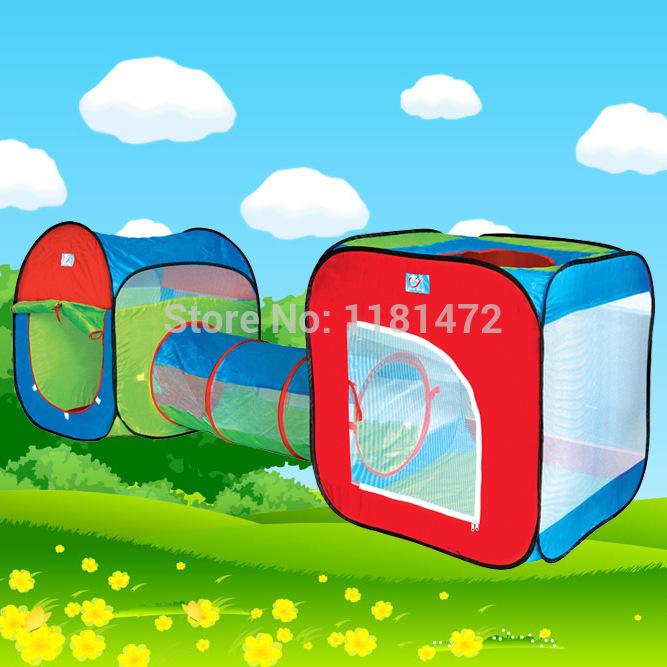 Ultralarge 240 cm crianças túnel design tenda Baby Toy Play Game crianças princesa Prince Castle interior tendas ao ar livre(China (Mainland))