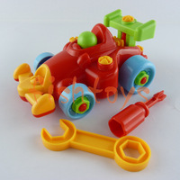 Brains assemble toys disassemble toy Building Blocks F1 car Cartoon car Toy Early Educational Learning Toys Free Shipping