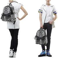 Rivet fashion black and white zebra shoulders backpack classic women knapsack men Rucksacks unsexual Rucksack free shipping