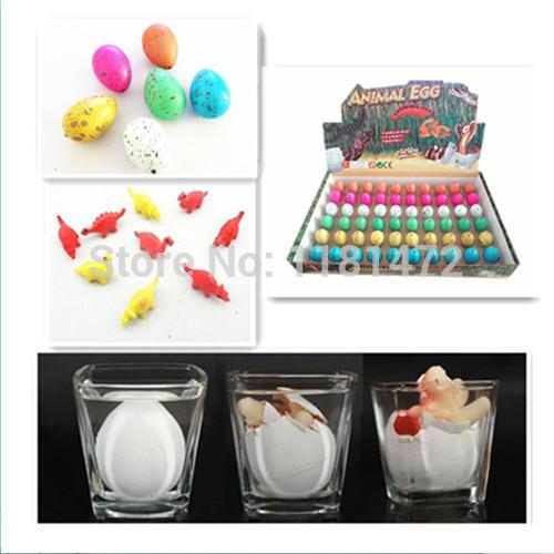 60pcs/lot Novel Water Hatching Inflation Dinosaur Colored Eggs Colorful Cracks Grow Egg Educational Toys Free Shipping(China (Mainland))