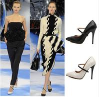 Women Pumps Hot Sale Closed Toe Medium(b,m) Adhesive Drop Shipping 2014 New Style Women Shoeshigh Heels Pumps Shoes Pointy free