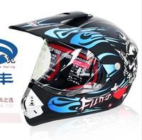 Free shipping tanks ran helmet helmet motorcycle helmet full face helmet Cross Helmet Black Wolf T340 Asia