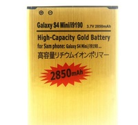 Hot sale 3.7V 2850mAh High Capacity Gold Battery Mobile Phone Replacement Battery For Samsung Galaxy S4 SIV Mini i9190