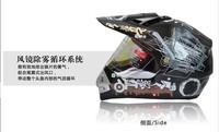 Free shipping TANKED tank helmet motorcycle helmet cross helmet full face helmet T340 Black TZD