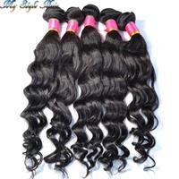 4A Brazilian virgin hair loose wave human hair 1b# bundles 5pcs/lot mixed length sunlight mocha new star queen luvin products