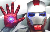 Glove and Helmet High quality ironman helmet Iron Man size 1:1 lights wear flip TOY FIGURE AVENTURE HERO EYE LIGHT SWITCH