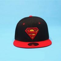 2014 New Fashion Unisex Superman Baseball Caps Snapback Hats Gorro For Men/Women Sports Hip pop BBoy Caps Snap Back Casquette