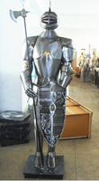 REAL SIZE Decorative Full Suits of Armor Ancient Rome and England, Hand Made Iron Suite and Costume