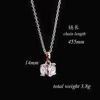 2014 Exquisite Copper Silver White Gold Plated Crystal Round Azorite Necklace Pendant For Gift D0246