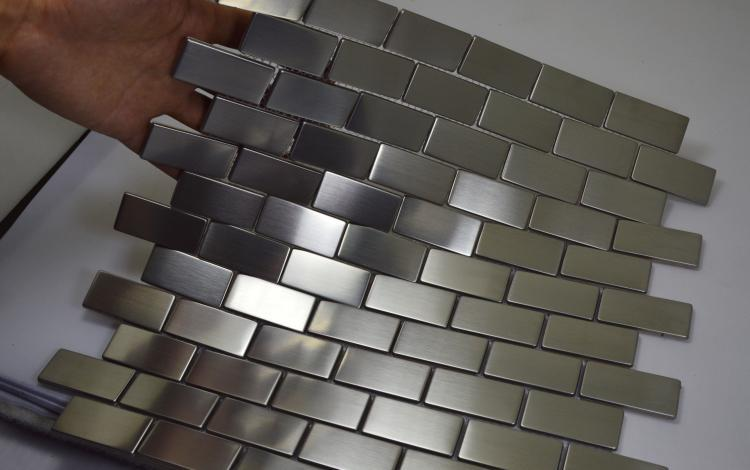 free shipping silver color stainless steel metal mosaic