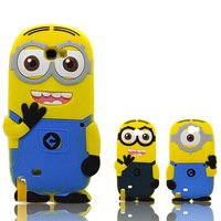 Silicone Despicable Me Minion Case For Samsung Galaxy Note 3 III N900 N9000 N9005 Back Cover Capa Celular
