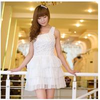Free shipping New Arrival bridesmaid dresses Short  one Shoulder bridesmaid Group dress Princess bridesmaid dress