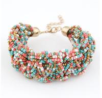 Sunshine jewelry store Hot Sale Bracelets And Bangles For Women Bohemian Beaded Bracelets Suit For Women Evening Dress