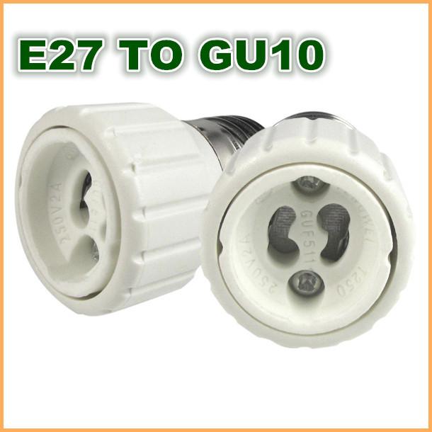 High quality ABS E27 T GU10 / GU10 to E27 E26 Edison screw socket base Adapter Converter led bulb lamp(China (Mainland))