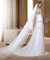 New Fashion 2014 veil encryption soft wedding dress train veil  other sizes can be customized,appliqued edge women bridal veils