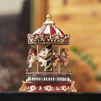 Romantic Carousel music box vintage rotating music box Christmas gift, unusual gifts, home decoration