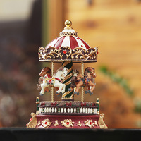 Romantic Carousel music box vintage rotating music box Christmas gift, unusual gifts, home decoration