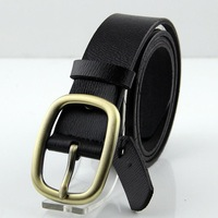 Autumn New Free shipping whole price man leather belt Single layer cowhide Fashion leisure archaize belt