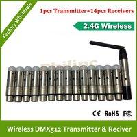 DHL/EMS 2.4G Wireless DMX512 Transmitter & Receiver wireless DMX Console DMX Kit Fast transfer the signal