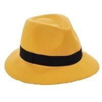 Wholesale Celebrity Stylish Lady Winter Wool Felt Fedora Hats NEW Women Wool Felt Fedoras Caps Ladies Spring Trilby Cap Headgear