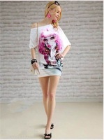2014 new arrival brand women's irregular T shirt