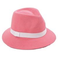 Wholesale Pretty Ladies Winter Fedora Caps Women Fall Felt Hats Fashion Womens Wool Felt Fedoras Hat  Lady Spring Trilby Cap