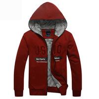 2014 Autumn and winter fashion Men's  USMC  Hoodies Sweatshirts Sports Sweaters Jacket Casual Coats Streetwear Y0282
