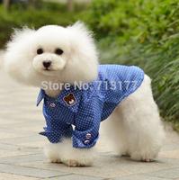 10pcs/lot.Free shipping High quanlity New Spring/Summer Fashion debonaire clothing pet shirt Dot denim shirt