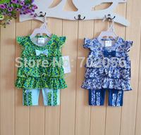 2 pcs set SUMMER Baby short sleeve tops t-shirts shorts pant 12sets/lot#3686