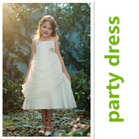 Christmas party girl dress in summer 3~7age luxury flower girl dress kid apparel